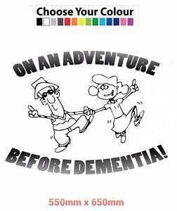 Funny,Rv,Camper,Cavavan, On An Adventure Before Dementia Sticker Graphic Decal