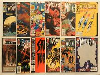Lot of 12 Various WOLVERINE (#50, 100 + SABRETOOTH #1) Copper Age Marvel Comics