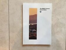 NEW BMW 1996 3 Series Convertibles Brochure Catalog. 318i 328i. Color, Data.