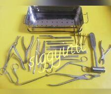 Basic SMR septoplasty set 23 Pcs set with (boxS.S) surgical instruments Sug