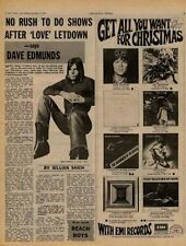 Dave Edmunds Love Sculpture UK Interview Article 1970