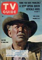 1960 TV Guide November 19 - Farewell to Ward Bond - Wagon Train; Checkmate;