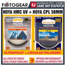 HOYA 58mm HMC UV (C) + CPL Circular Polarizer Camera Lens Filter