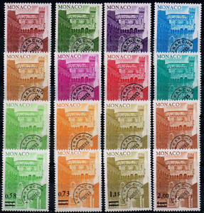 TIMBRES MONACO PREOB  1976/78 Série n°38 au n°53 NEUF** SUPERBE