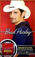 BRAD PAISLEY Moonshine In The Trunk Ltd Ed RARE Poster +FREE Country Folk Poster