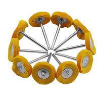 10pcs 25X3mm Cloth Polishing Buffing Round Wheel Brush Rotary Tool For Grinder