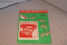1951 Gene Autry Christmas Sheet Music Thirty Two Feet And Eight Little Tails
