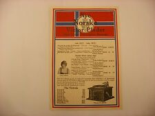 Original Victor Phonograph Record Catalog - Norwegian July, 1917