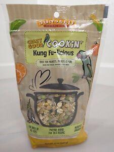 SunSeed Crazy Good Cookin' Kung Fu licious Treat Birds Parakeets Parrots 12 oz