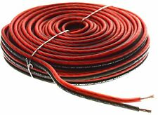Red 50 Ft True 12 Gauge AWG Car Home Audio Speaker Wire Cable Spool BPES12.50
