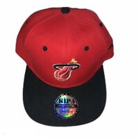 Miami Heat Kipa Premier NBA Black Red Snap Back Hat Cap Basketball EUC
