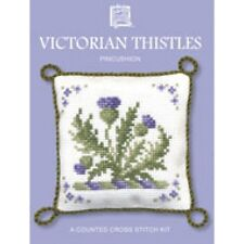 Victorian Thistles Pincushion Counted Cross Stitch Kit By Textile Heritage
