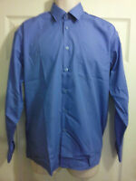 "Mens HARBOUR LIGHTS long sleeve work/office BLUE shirt 15"" 17"" NEW"