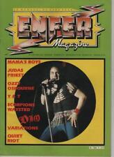 enfer magazine n° 9 janvier 1984  scorpions / judas priest / ozzy / variations