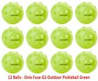 ONIX Fuse G2 Outdoor Pickleball Ball Neon Green 12 Pack Bundle - Auth Dealer