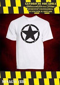T-Shirt Willys Jeep Stella Militaire Style US Forces Armées Américain De Combat