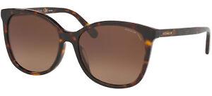 Coach HC 8271U Dark Havana/Brown Shaded 57/16/140 Damen Sonnenbrillen