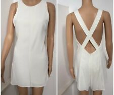 NWT ZARA White Romper shorts with Criss Cross back fully lined - Size S