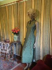 Vintage 1950's Style Oriental Print Dress Approx Size 10