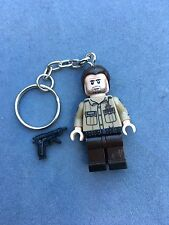 The Walking Dead Rick Grimes Keyring Keychain Minifigure UK SELLER