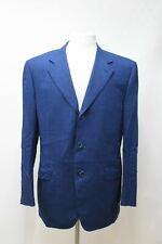 CANALI Men's Blue Pure Wool Single Breasted Suit Blazer Jacket Size IT52 UK42