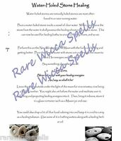 Powerful Witch's Holed Stone Healing Spell Wicca Book of Shadows Page Ritual