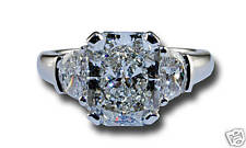DIAMOND RADIANT 3-STONE RING, ANNIVERSARY OR ENGAGEMENT