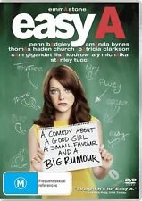 Easy A (DVD, 2011) - Region 4 - Mint Condition