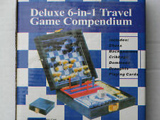 Deluxe 6-in-1 Travel Game Compendium New in Box