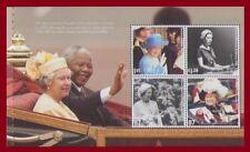 NELSON MANDELA & QUEEN ELIZABETH DIAMOND JUBILEE PANE 2012 MNH