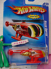 2009 Hot Wheels KILLER COPTER #107/190 ~red/yellow; Channel 68 News~City Works