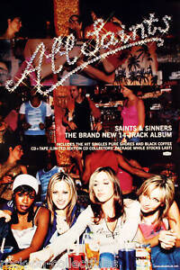 All Saints 2000 Saints And Sinners Original Promo Poster