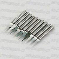 10x High Quality 1/8'' Carbide PCB Engraving Bits CNC Router Tool 10° 0.3mm