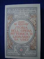 DE RINALDIS-STORIA OPERA PITTORICA DI LEONARDO DA VINCI-ISTITUTO STUDI VINCIANI