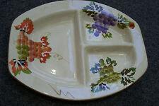 "Casa Elite 12"" rectangular Divided Plate Design M Valenti 12"" long 9 1/8 "" wide"