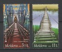 "Moldova 2018 CEPT Europa ""Bridges"" 2 MNH stamps"