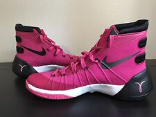 Nike Mens Hyperdunk 2015 Size 13 Basketball Shoes Pink Black Breast Cancer