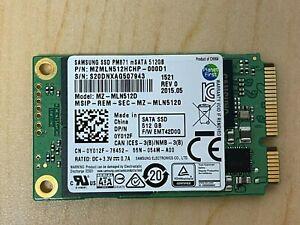 Dell Samsung 512GB MSATA SSD MINI MZMLN512HCHP-000D1 0Y012F Solid State Drive