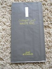 Etihad Air Airlines Waste Air Sickness Barf Bag   USA Seller