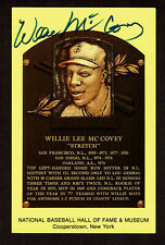 WILLIE McCOVEY SIGNED  HOF PLAQUE AUTOGRAPHED POSTCARD JSA