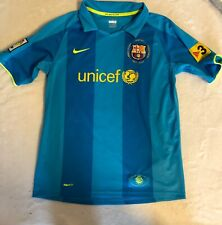 Barcelona Lionel Messi 19 Visit Jersey Rare W Embroidered Patch Youth XL 13/15.