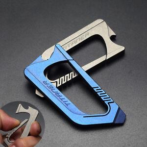 Titanium Alloy Bottle Opener Spanner Key ring Key chain Corkscrew Screwdriver