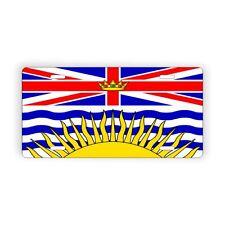 "British Columbia Provincial l Flag Licence Plate 6"" x 12"" Aluminum Plate"