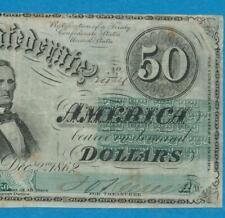$50. T-50 1862 Genuine Confederate States Of America