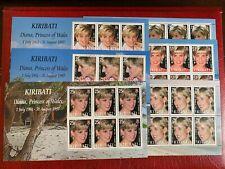 KIRIBATI 2007 MNH MINISHEETS x 6 PRINCESS DIANA