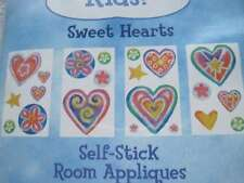 Just For Kids Sweet Hearts Self Stick Room Appliques Pre Cut Reusable Stickers