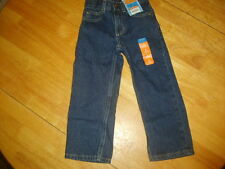 SONOMA LIFE STYLE BOYS SLIM/RELAXED ADJ WAIST JEANS DARK STONE SIZE 4 100% COTTO