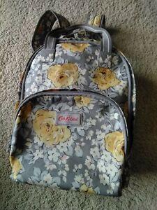 Cath Kidston Grey/Yellow/Cream Floral Pocket Rucksack