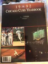 Chicago Cubs 1992 Yearbook Maddux Sandberg Dunston Dawson