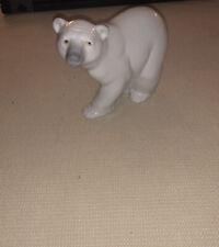 Lladro Daisa White Porcelain Polar Bear Figurine Made in Spain